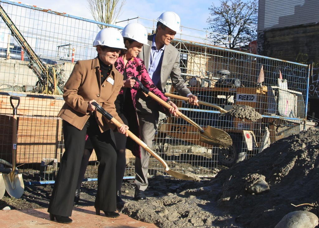 Groundbreaking ceremony for the new branch