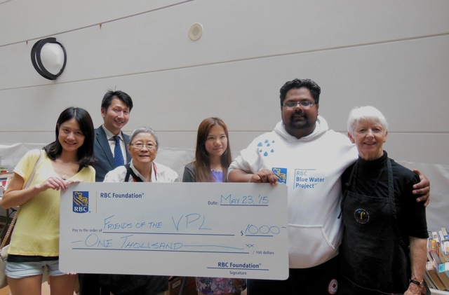RBC Donates $1000 at book sale