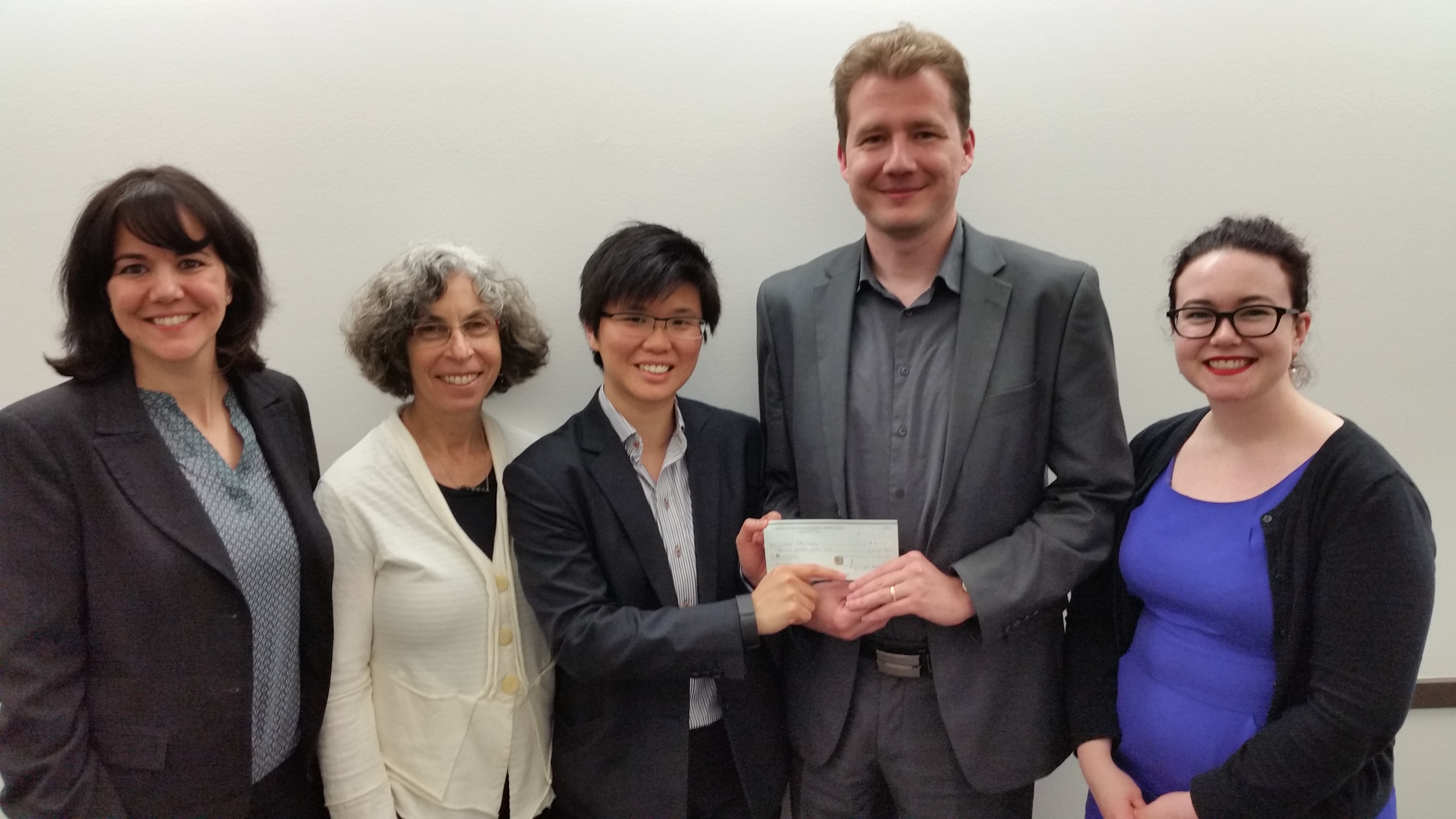 Flashback to Spring 2016 – Cheque presentation to Vancouver Public Library